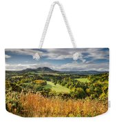 Eildon Hills In Autumn Weekender Tote Bag