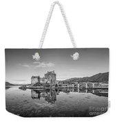 Eilean Donan Castle Black And White Weekender Tote Bag