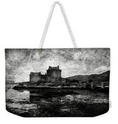 Eilean Donan Castle In Scotland Bw Weekender Tote Bag by RicardMN Photography