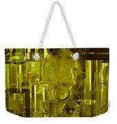 Einstein In Crystal - Yellow Weekender Tote Bag