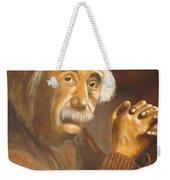 Einstein - Original  Oil Painting Weekender Tote Bag