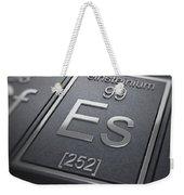 Einsteinium Chemical Element Weekender Tote Bag