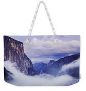 El Capitan Rises Above The Clouds Weekender Tote Bag