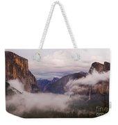 El Capitan Rises Over The Clouds Weekender Tote Bag