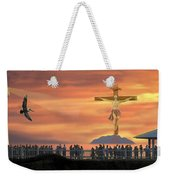 El Faro Christ Sunset Photo Illustration Weekender Tote Bag