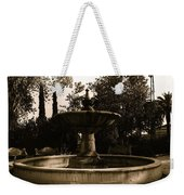 El Paso And Southwestern Rr Depot Fountain Tucson Arizona 1978 Weekender Tote Bag
