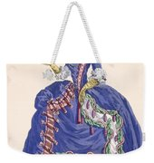 Elaborate Court Dress In Electric Blue Weekender Tote Bag