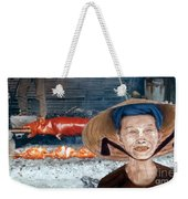 Elderly Vietnamese Woman Wearing A Conical Hat Altered Version Weekender Tote Bag