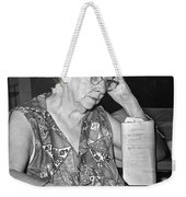 Elderly Woman At Hospital Weekender Tote Bag