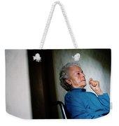 Elderly Woman Sitting In A Wheel Chair Weekender Tote Bag