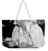 Eleanor Roosevelt Knitting Weekender Tote Bag by Underwood Archives