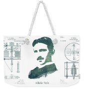 Electric Arc Lamp Patent Art Nikola Tesla Weekender Tote Bag