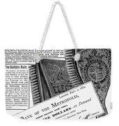 Electric Brushes, 1882 Weekender Tote Bag
