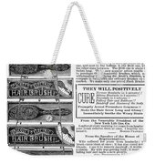 Electric Brushes, 1883 Weekender Tote Bag