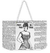 Electric Corset, 1887 Weekender Tote Bag