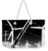 Electric Fence Black And White Weekender Tote Bag