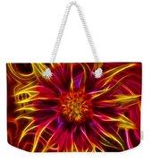 Electric Firewheel Flower Artwork Weekender Tote Bag