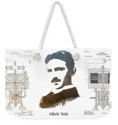 electric generator patent art Nikola Tesla Weekender Tote Bag