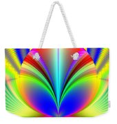 Electric Rainbow Orb Fractal Weekender Tote Bag