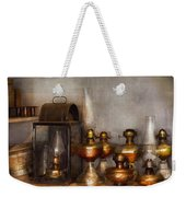 Electrician - A Collection Of Oil Lanterns  Weekender Tote Bag by Mike Savad