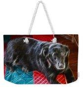 Electrostatic Dog And Blanket Weekender Tote Bag