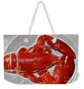 Electrostatic Lobster Weekender Tote Bag