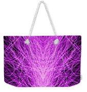 Electrostatic Pink Weekender Tote Bag