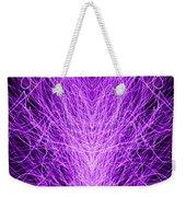 Electrostatic Purple Weekender Tote Bag