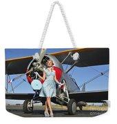 Elegant 1940s Style Pin-up Girl Weekender Tote Bag