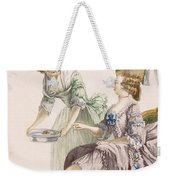 Elegant Lady Having Her Feet Washed Weekender Tote Bag