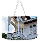 Elegant White House And Balcony Weekender Tote Bag
