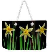 Elegant Yellow Flowers On Green Shoots Weekender Tote Bag