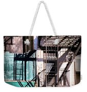 Elemental City - Fire Escape Graffiti Brownstone Weekender Tote Bag