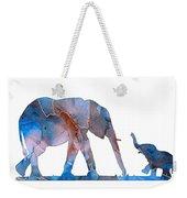 Elephant 01-3 Weekender Tote Bag