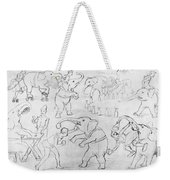 Elephant Acts, 1880s Weekender Tote Bag
