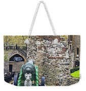 Elephant And Cannon Of The Tower Weekender Tote Bag