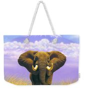 Elephant At Table Mountain Weekender Tote Bag