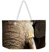 Elephant Close-up Portrait Weekender Tote Bag by Johan Swanepoel