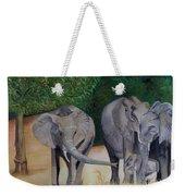 Elephant Family Gathering Weekender Tote Bag