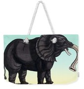 Elephant From The Historiae Animalium 16th Century Weekender Tote Bag