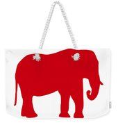 Elephant In Red And White Weekender Tote Bag