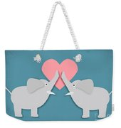 Elephant Love Weekender Tote Bag