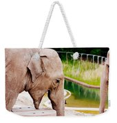 Elephant Open Mouth Weekender Tote Bag