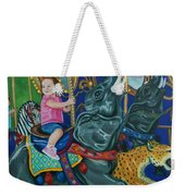 Elephant Ride Weekender Tote Bag