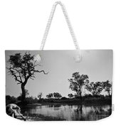 Elephant Skull On Riverbank, Okavango Weekender Tote Bag
