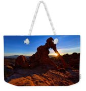 Elephant Sunrise Weekender Tote Bag by Chad Dutson