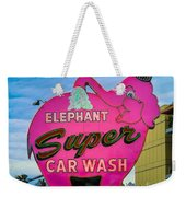 Elephant Super Car Wash Weekender Tote Bag