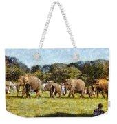 Elephant Train  Weekender Tote Bag