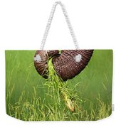 Elephant Trunk Pulling Grass Weekender Tote Bag