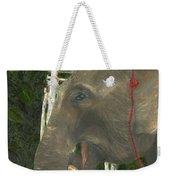Elephant Under His Thumb Weekender Tote Bag